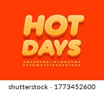 vector summer sign hot day with ...   Shutterstock .eps vector #1773452600
