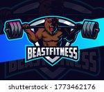 bear fitness bodybuilding...   Shutterstock .eps vector #1773462176