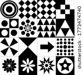 monochrome high contrast black...   Shutterstock .eps vector #1773474740