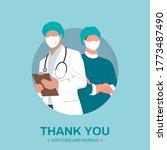 professional doctors and nurses ...   Shutterstock .eps vector #1773487490