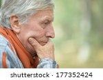 portrait of thoughtful elderly... | Shutterstock . vector #177352424