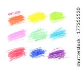 set of colored spots wax crayon ... | Shutterstock .eps vector #177352520