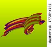 color swirling paint flow...   Shutterstock .eps vector #1773546146