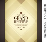wine list design | Shutterstock .eps vector #177360128