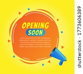 opening soon sale liquid... | Shutterstock .eps vector #1773606389