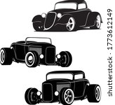 hot rod cars silhouette set... | Shutterstock .eps vector #1773612149