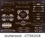 calligraphic design elements... | Shutterstock .eps vector #177361418