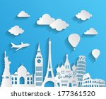 travel and tourism background | Shutterstock .eps vector #177361520