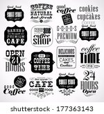 retro coffee  labels and... | Shutterstock .eps vector #177363143