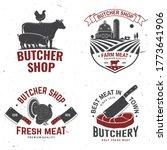 set of butcher shop badge or... | Shutterstock .eps vector #1773641906