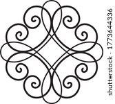 wrought iron decor floral... | Shutterstock .eps vector #1773644336