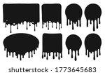 black dripping frames. flowing...   Shutterstock .eps vector #1773645683