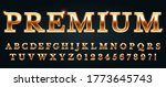 Premium Golden Font. Luxury...