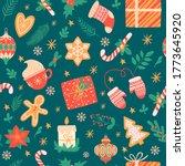 christmas seamless pattern.... | Shutterstock .eps vector #1773645920
