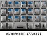 mobile keyboard | Shutterstock . vector #17736511