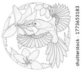bird around the flowers...   Shutterstock .eps vector #1773653183