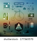hipster style elements  icons... | Shutterstock .eps vector #177365570
