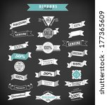 vintage retro ribbons and label ... | Shutterstock .eps vector #177365609