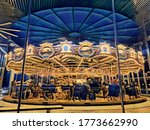 Illustration Of A Carousel On...