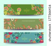 a set of modern vector  web... | Shutterstock .eps vector #177366416