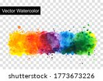 rainbow watercolor splash... | Shutterstock .eps vector #1773673226
