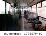 Old Bus Or Trolleybus Cabin...