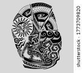 kite surfer maori shoulder...   Shutterstock .eps vector #1773709820