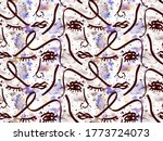 Abstract Seamless Woman Face...