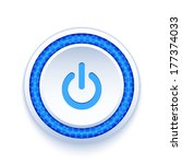 power button icon isolated on...