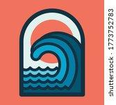 beach sea nature wild line... | Shutterstock .eps vector #1773752783