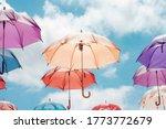 Concept Colorful Umbrella...