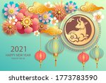 happy new year 2021   chinese... | Shutterstock .eps vector #1773783590
