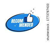 recommended label with thumbs... | Shutterstock .eps vector #1773787433