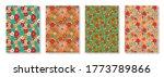 vintage floral patterns set....   Shutterstock .eps vector #1773789866