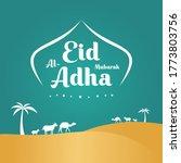 happy ied al adha mubarak... | Shutterstock .eps vector #1773803756