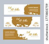 set of eid al adha banner... | Shutterstock .eps vector #1773803759