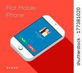 flat design style of ringing...