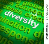 diversity word cloud showing... | Shutterstock . vector #177382640