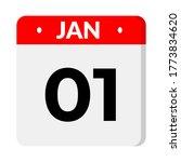 january 01   calendar icon.... | Shutterstock .eps vector #1773834620