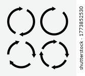 set of black circle vector...   Shutterstock .eps vector #1773852530