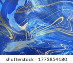 blue marble and gold abstract... | Shutterstock .eps vector #1773854180
