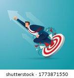 businessman breakthrough the...   Shutterstock .eps vector #1773871550