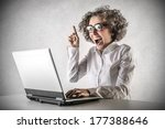 crazy technology | Shutterstock . vector #177388646