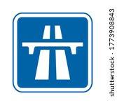 motorway traffic sign. vector...   Shutterstock .eps vector #1773908843