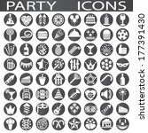 party icons | Shutterstock .eps vector #177391430