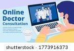 online doctor consultant  close ... | Shutterstock .eps vector #1773916373