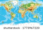 highly detailed physical map of ... | Shutterstock .eps vector #1773967220