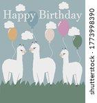 happy birthday greeting card... | Shutterstock .eps vector #1773998390