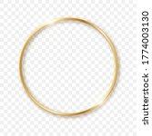 golden sparkling circle on a... | Shutterstock .eps vector #1774003130