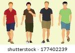 men walking | Shutterstock .eps vector #177402239